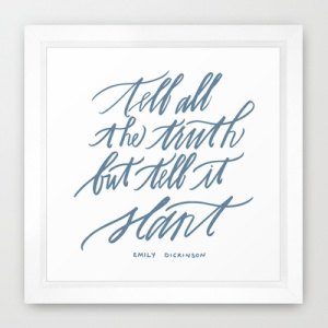 Emily Dickinson | Bluestocking Calligraphy print